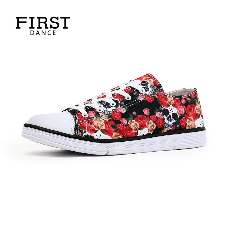FIRST-DANCE-Floral-Classic-Canvas-Shoes-Men-Casual-Skeleton-Shoes-For-Men-Flats-Fashion-Breathable-Flower