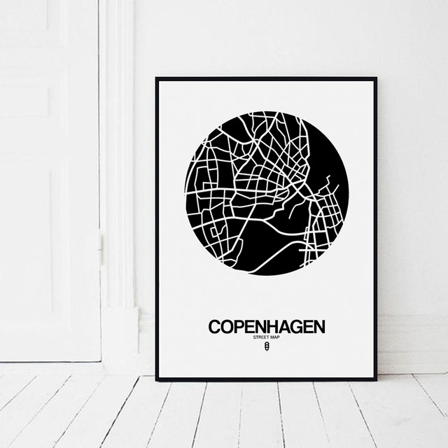 Online shop modern line drawing world map decorative painting black modern line drawing world map decorative painting black white minimalist art canvas print office living room wall decor no frame gumiabroncs Images