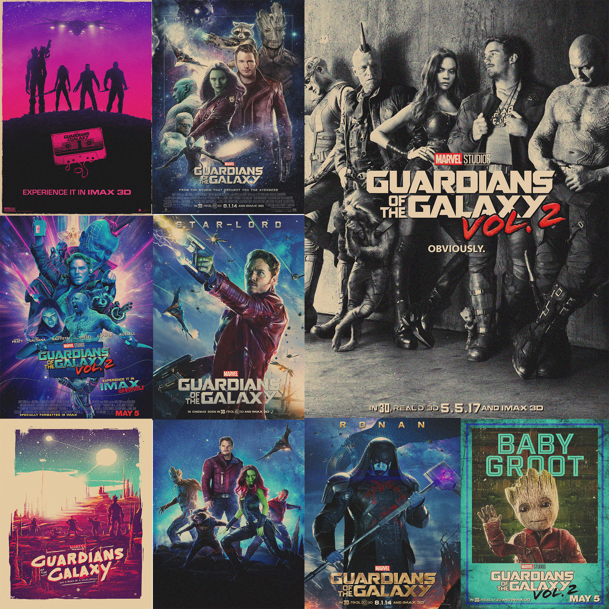 Guardians of the Galaxy Vol. 2 Posters Brown Kraft Paper Prints Wall Stickers Home Decoration Vintage Style MO11