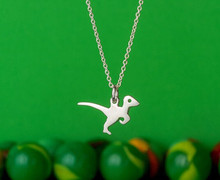 Daisies Simple Design Dinosaur Choker Necklace Modern Minimalist Animal Velociraptor Pendant Necklaces(China)