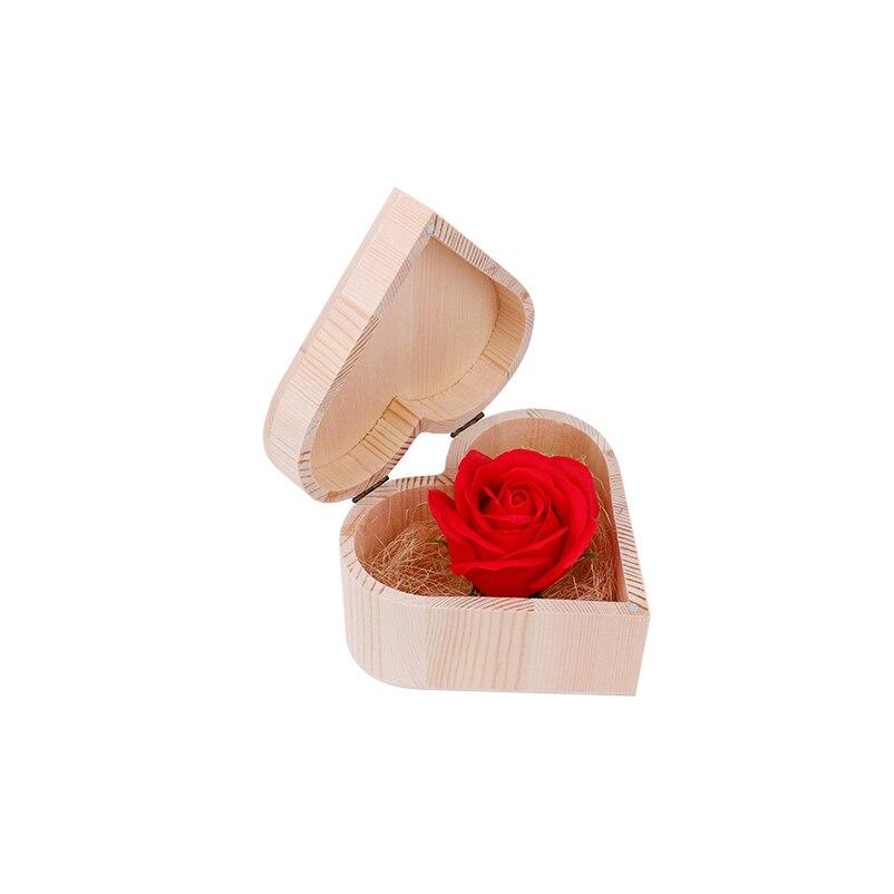 1 Набор, 140 г, Радужное многоцветное мыло в форме лепестка розы ed цвета, деревянная коробка в форме сердца, вечерние подарки на день святого Валентина для отбеливания кожи, TSLM1