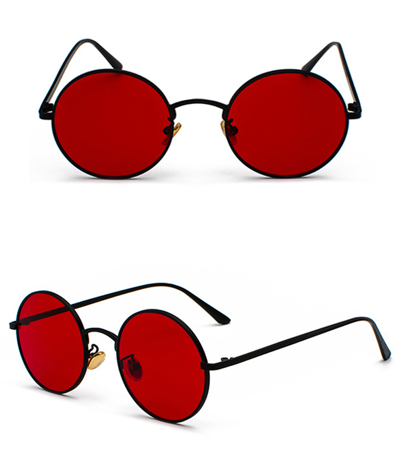 women sunglasses with red lenses detail (6)