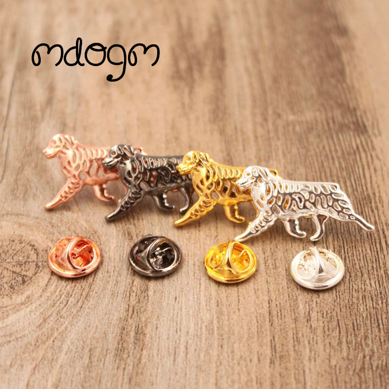 Mdogm Australian Shepherd Dog Animal Brooches And Pins  Suit Cute Metal Small Father Collar Badges Gift For Male Men B054