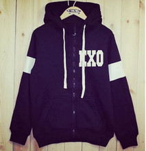2016 new winter wind EXO college baseball clothing LUHAN BAEKHYUN SEHUN KRIS-sleeved sweatshirt  coat exo hoodie kpop bts
