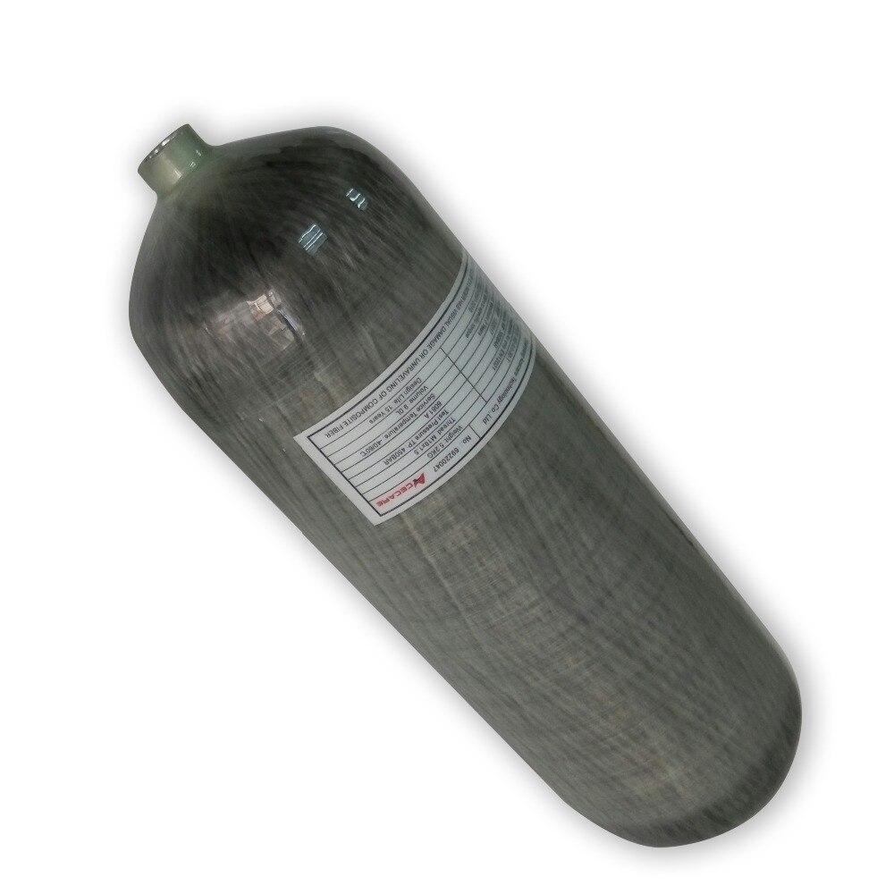 AC3090 9L 4500psi Condor Pcp Compressed Air Carbon Fiber SCUBA Tank Cylinder Air Gun Hunting Compressor Fill Air Tank Carbon