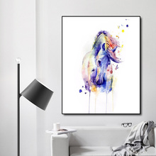 цена Watercolor Horse Decoration Canvas Prints Picture Poster Canvas Painting Calligraphy For Bedroom Living Room Home Wall Decor Art