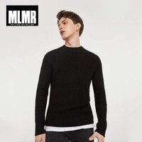 MLMR JackJones Мужская Зимняя шерстяная смесь длинный рукав женский полувер мужская одежда пуловер мужская Pull Homme мужская одежда | 218325502