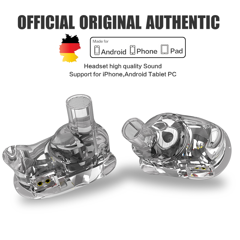 Oeiginal QKZ VK1 4 Dynamic Hybrid In Ear Earphone HIFI DJ Monito Running Sport Earphones 4 Drive Unit Headset With Mic Earphones
