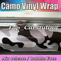 Large WHITE BLACK Camouflage Vinyl For Car Wrap Film Camo Car Sticker Motorcycle Roof Mirror Wraps