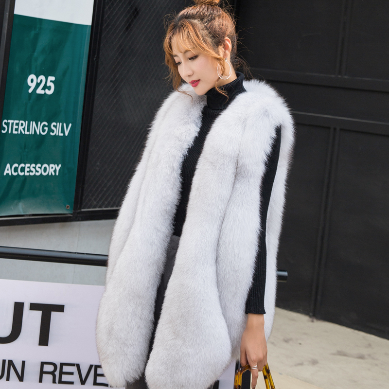 ZADORIN NEW Designer Winter Faux Fur Vest Women Faux Fur Gilet Pelliccia Plus Size Furry Fur Coat Manteau Fourrure Femme Bontjas