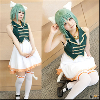 Japanese Anime Vocaloid GUMI COS Clothes 96 Cat Cute Kagamine Rin/Ren Cosplay Costumes Sexy Cat Halloween Costumes for Female