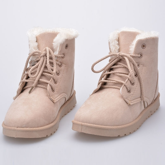 020adaa963d 2015 Women Winter Shoes Flat Heel Ankle Boots Casual Cute Warm Shoes  Fashion Snow Boots Women Boots o-42