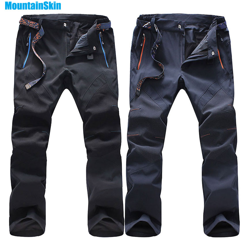 Mountainskin 5XL Men's Summer Quick Dry Softshell Pants Outdoor Sports Hiking Trekking Climbing Fishing Male Thin Trousers MA093 цена