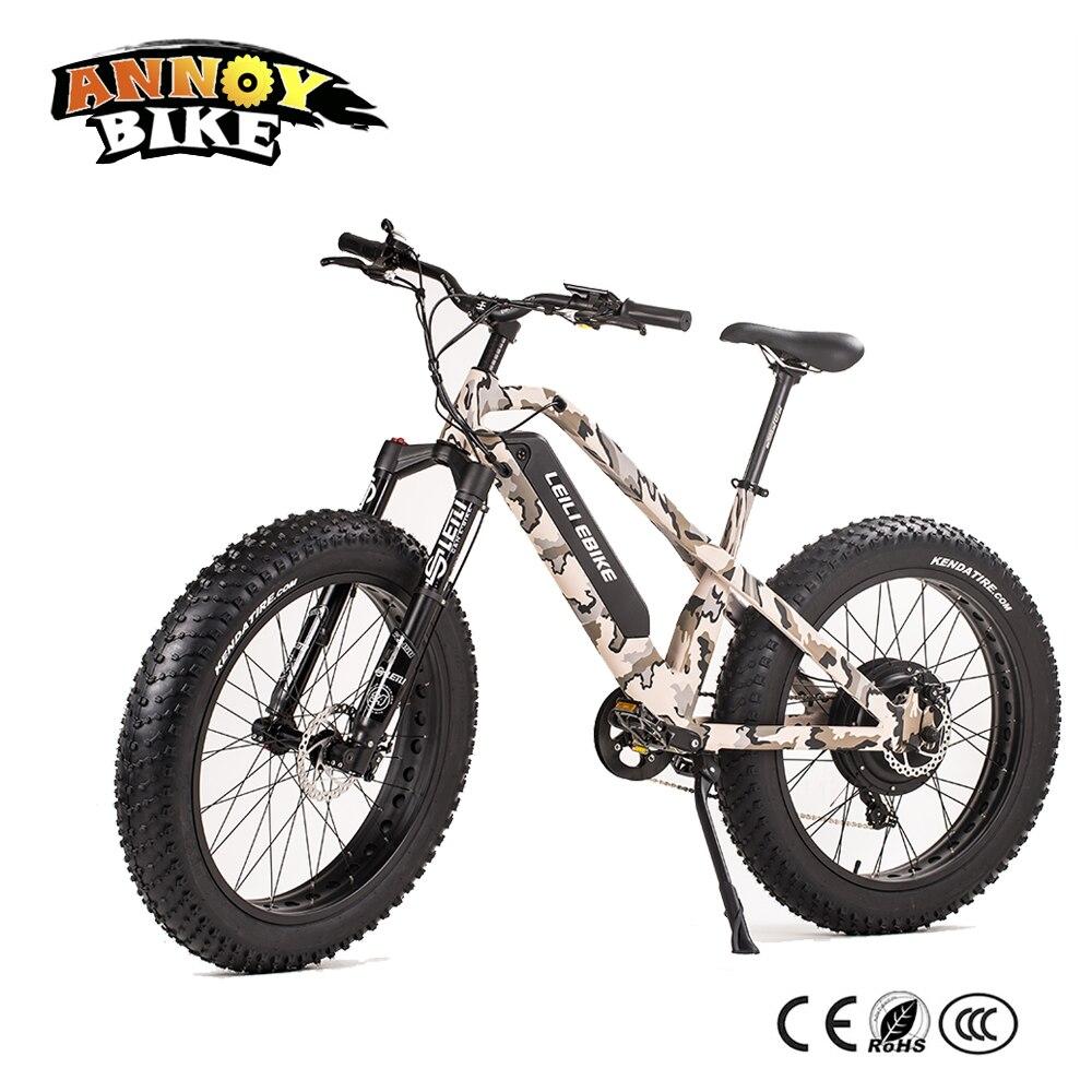 E vélo Vélo Électrique 48 v 1000 w moto Neige Fat Tire Électrique Vtt Vélo Mtor Roue Au Lithium batterie e-bike