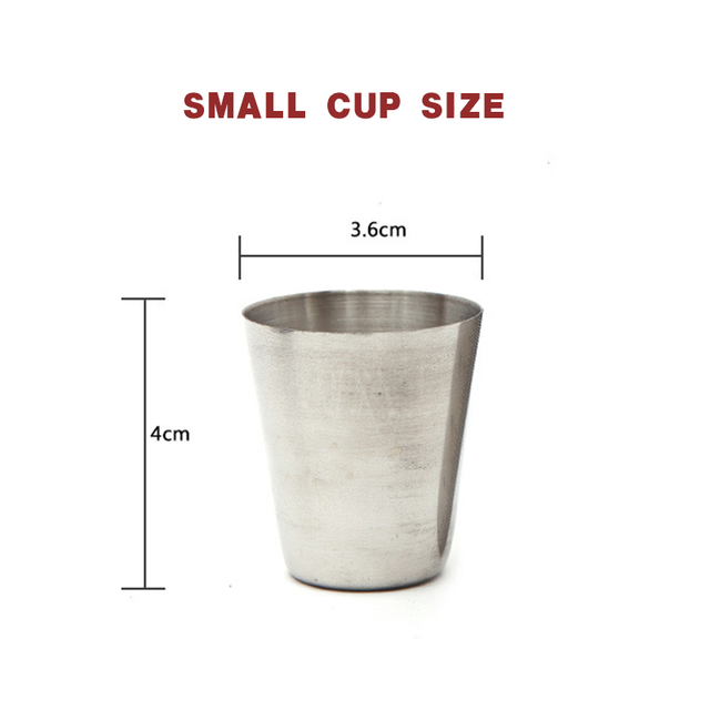 4 Stainless Steel Cups With Leather Case 4