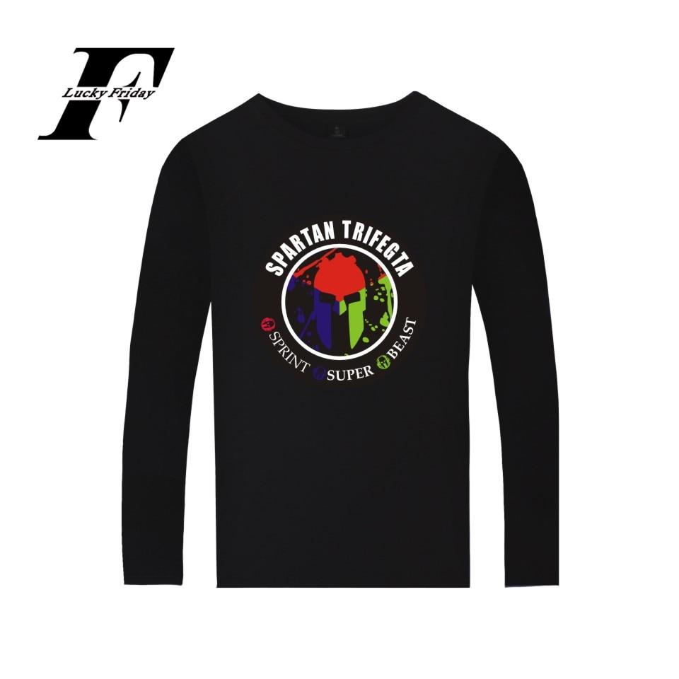 LUCKYFRIDAYF Spartan TRIFECTA Shirt Spring Soft Cotton High Quality Fashion Long Sleeve T-shirt Oversize For Couple Unisex XXS