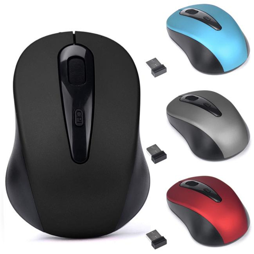 2.4GHz Wireless Mouse 3 Keys USB Optical Scroll Cordless Mouse for Tablet Laptop Computer Finest 90x64x40 mm трекбол kensington orbit optical with scroll ring