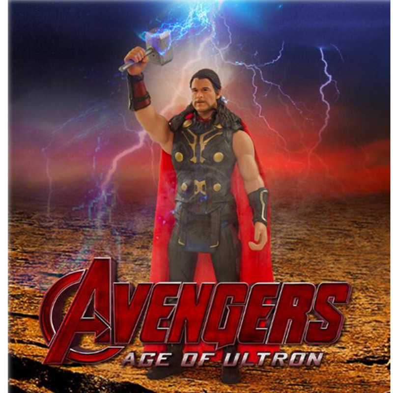 Crazy Toys Acengers Age of Ultron Thor PVC Action Figure Collectible Model Toy 30cm Creative Birthday Gift For Children L437 crazy toys acengers age of ultron thor pvc action figure collectible model toy 30cm kt3112