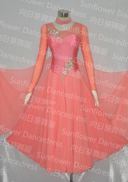 Ballroom Standard Dance Competition Dress  Ballroom Dance Skirt ,ballroom Dance Dress,Sunflower Dancedress