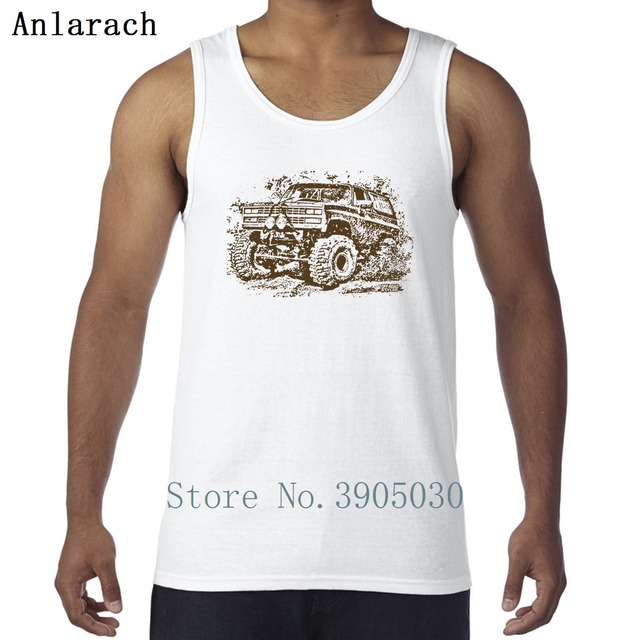 Chevy Blazer Mud Truck Vests Singlets Outfit Design Cute Tank Top Men Anti Wrinkle Spring Autumn Xs 2xl Singlet Clical