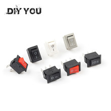 10 teile/los KCD11 10*15mm Snap-in Push Button Switch 3A/250V Mini SPST 3PIN 2/3 Position Boot Rocker Power Switches(China)