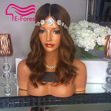 ombre Brown Brazilian full lace front lace human hair wigs glueless body wave with Natural baby hair free shipping