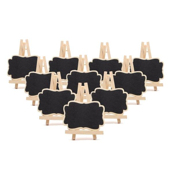 Nieuwe 10 Pcs Mini Houten Schoolbord Bericht Schoolbord Tafel Nummer Wedding Party Decor 7*9*1.2 Cm