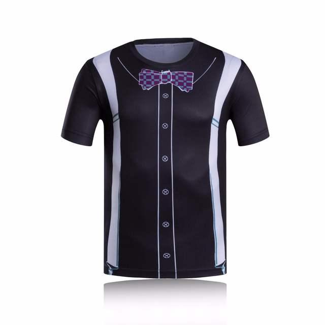 fe5d7c319 Online Shop Funny business suit T Shirt Men Luxury Tuxedo 3D Printed t  shirts Crossfit Compression Shirt Plus Size Tops Tees Brand Clothing
