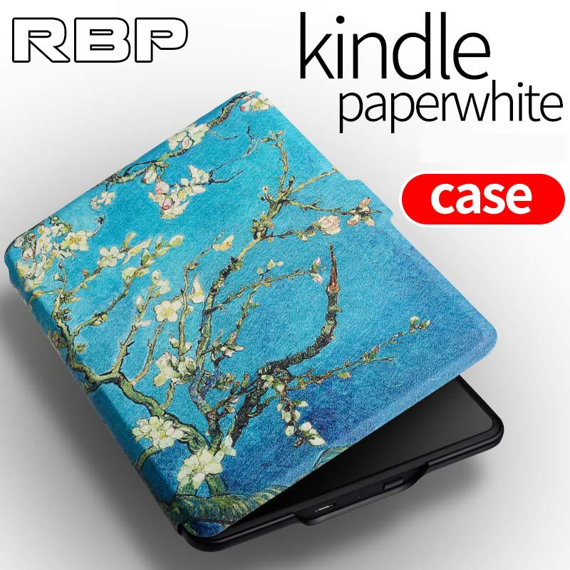 RBP for Amazon kindle protective cover Van Gogh portrait case 6 inch for paperwhite 1/2/3 e-book case for kindie paperwhite case for amazon kindle paperwhite e book leather case print slim smart ebook cover for kindle paperwhite 3 e reader protective stand