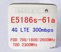 Cat6 300 mbps desbloqueado huawei e5186 e5186s-61a lte 4g router inalámbrico 4g mifi dongle cpe b593 router wifi coche pk b890 b880