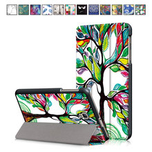 Case for Samsung TAB A 8.0 2017 T380,T385 8 inch Tablet, Painted Cover for Galaxy Tab A8.0 2017, T380 T385 PU Lather Stand Case tab a 8 0 2017 litchi folio pu leather case flip cover for samsung galaxy tab a 8 0 2017 a2s t380 t385 sm t385 tablet case