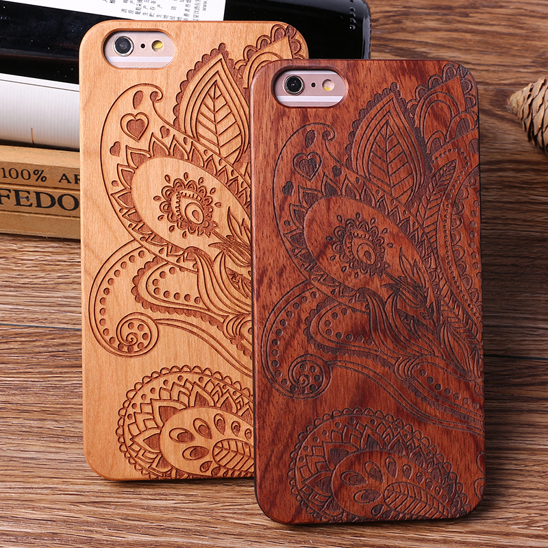 For iPhone6 6S 6Plus 7 7Plus 8 8Plus X King Queen Crown World Map Paisley Praying Real Wood Phone Case For SAMSUNG S8 S9 Plus