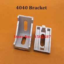 10pcs 4040 (40*40) Corner Fitting Angle L Brackets Connector Fasten Aluminum Profile Accessories 90 Degree Bracket