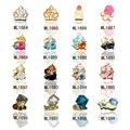 10 unids Lápiz Labial de La Flor de La Corona diseño mixta piedras joyería de la perla del arte del clavo 3d uñas decoraciones nuevo llega ML1684