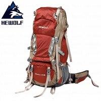 Hewolf 65L Открытый Восхождение сумка Professional пеший Туризм рюкзак водостойкие высокого качества Tear устойчивая Ткань Кемпинг Sprots