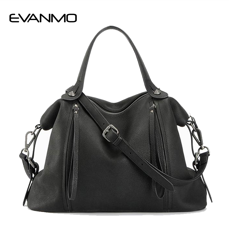 Brand Designer Luxury 100% Genuine Leather Handbags Soft Women Vintage Real Leather Shoulder Bags Travel Business A4 Handbag vintage designer 100