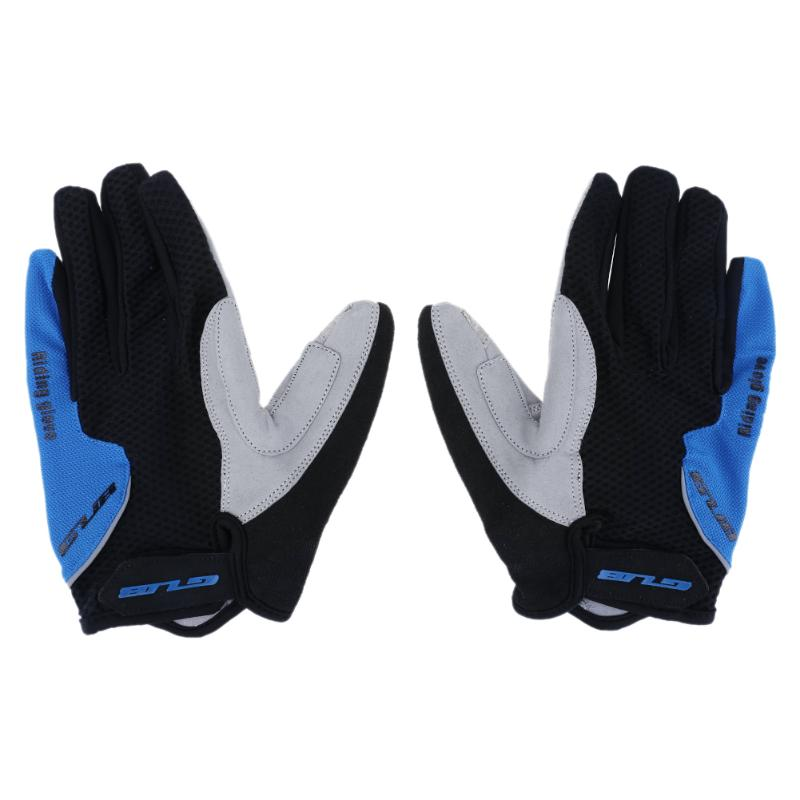 1 Pair Touch Screen Full Finger Gloves Breathable Motorcycle Bicycle Warmer Mitten Outdoor Riding Cycling Skiing Anti-Slip Glove
