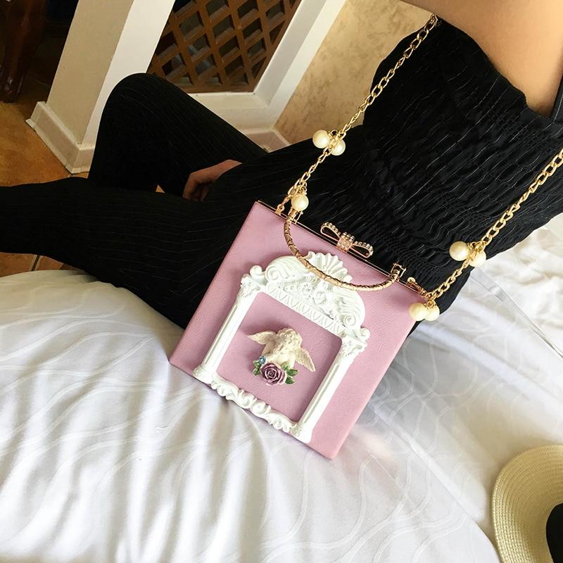 2018 NEW Rose 3D Palace Sculpture Frame Bag Luxury Handbags Women Party Bags Designer Lady Cute Shoulder Messenger Bag Sac Tote 4