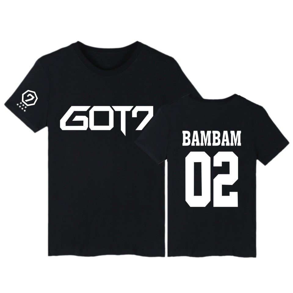 BAMBAM TShirts GOT7 Kpop JB Jackson Short Sleeve T-shirts with GOT 7 K-pop Hip Hop T Shirt Women in Tee Shirt Women 2016 k pop image
