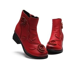 Image 5 - BEYARNE artı Size35 42NEW sonbahar kış kadın çizmeler yan fermuar kalın topuk çizmeler ayakkabı kadın, ayak bileği Mar çizmeler botas mujerE044