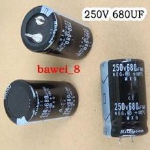 10pcs/lot 250V 680UF 22*40MM DIP Aluminum Electrolytic Capacitors 680UF/250V good quality free shipping