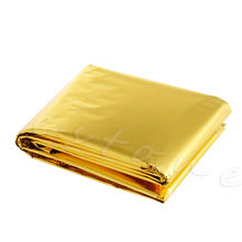 1Pc Outdoor Waterproof Emergency Survival Foil Thermal Rescue Blanket First Aid