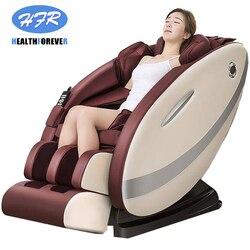 Brown preço da fonte de alimentação usado 3d pé shiatsu barato zero gravidade cadeira massagem elétrica corpo inteiro cadeira 4d
