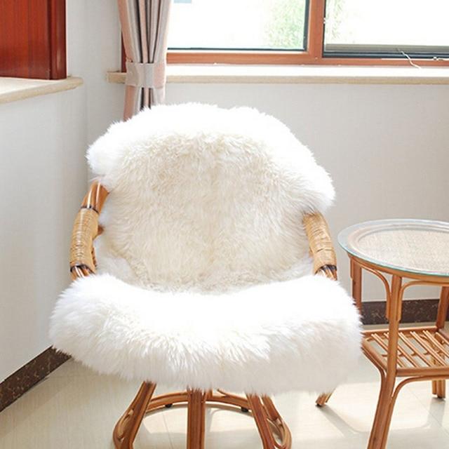 Stuhl Fell haarigen teppich faux schaffell sofa stuhl anti rutsch