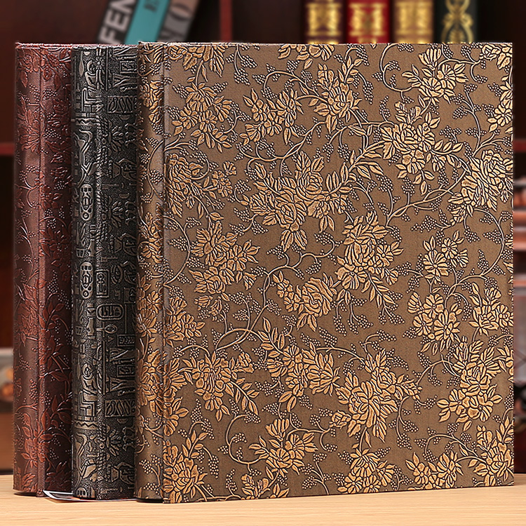 6 Inch 800 Plastic Pockets Photo Album Family Insert Large Capacity Leather Cover Gallery Family Memory