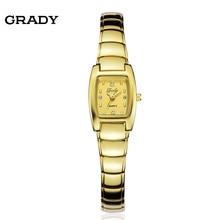 Бесплатная доставка Грейди прекрасная серия моды Женские Часы позолоченные часы водонепроницаемые кварцевые наручные часы reloj mujer