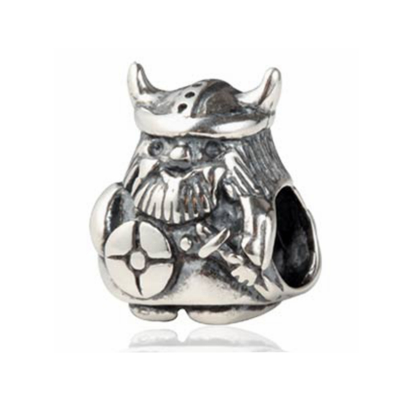 Free Shipping 925 Antique Sterling Silver European Caribbean Viking Charms Beads for Bracelet
