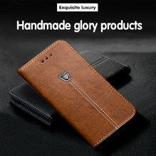 AMMYKI Embellishment high quality Metal Logo flip stents PU leather cell phone back cover 5.0'For CUBOT P11 case(China)