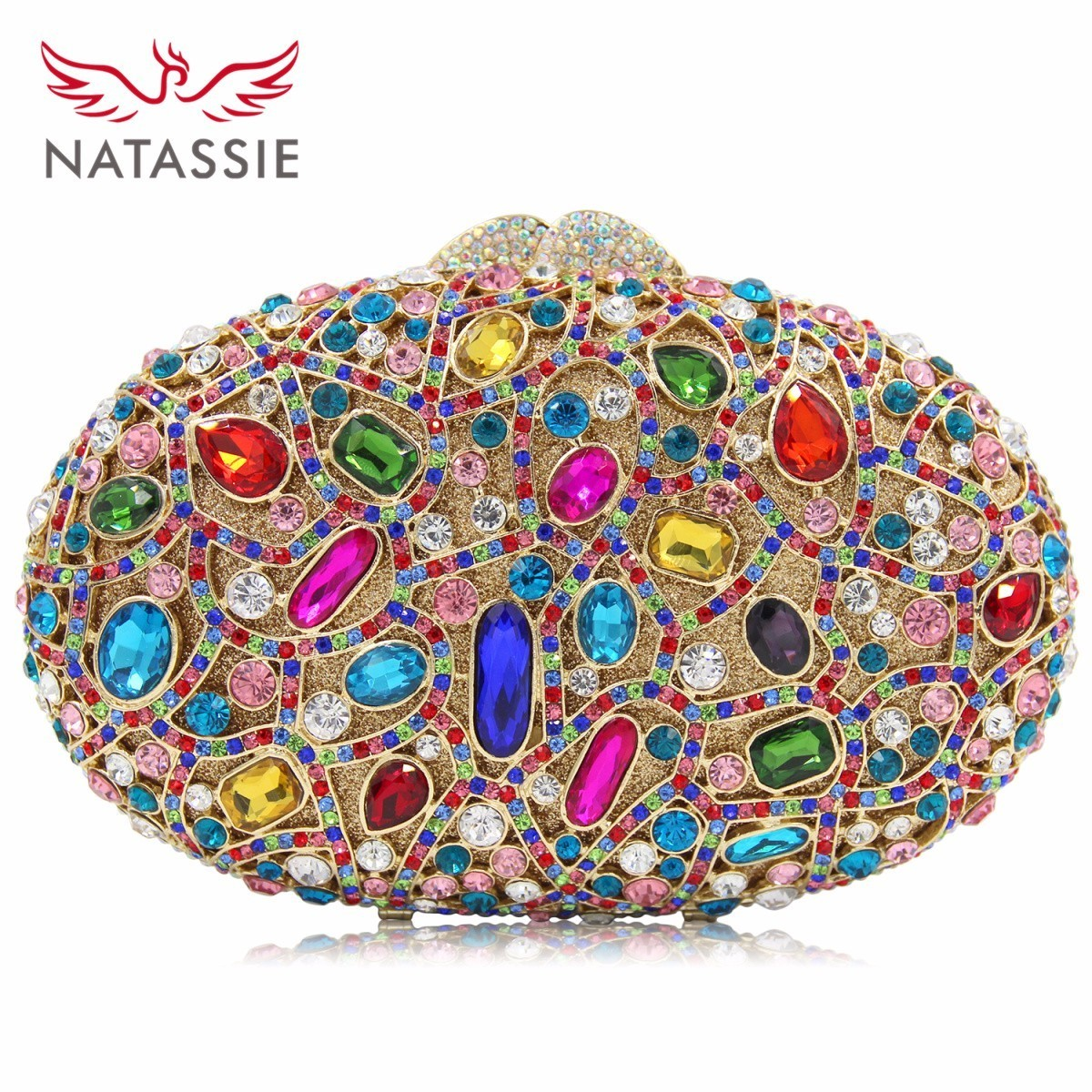 NATASSIE New Fashion Ladies Crystal Wedding Purses Women Evening Clutches Party Bags Female Top Quality Colorful Day Clutch natassie women evening bags ladies crystal wedding clutch bag female party clutches purses