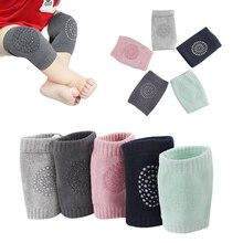 Новое поступление, Детские хлопковые носки, 5 пар, противоскользящие наколенники для ползания, защитные наколенники для детей